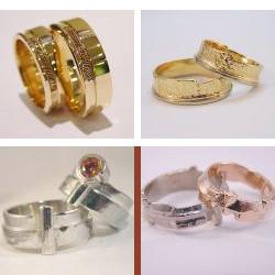 str3004 edelsmid edelsmeden trouwring trouwringen www.tonvandenhout.nl geelgoud roodgoud zilver witgoud vingerafdruk roermond ring origineel sieraden bicolor