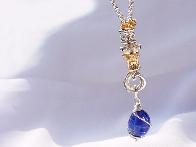 sb5164-bedels-bedelketting-ketting-bicolor-zilver-goud-handgemaakt-steen-beads-armband-edelsmid-origineel-bijzonder-goudsmid-www.tonvandenhout.nl-edelsmeden-roermond-sieraden-bead