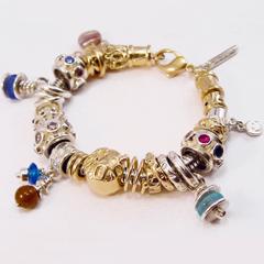 sb6387 bedel bead beads armband goud zilver bicolor parel steen logo sieraden edelsmid goudsmid juwelier www.tonvandenhout.nl roermond handgemaakt origineel
