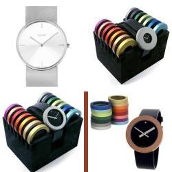 sh3004 horloge horloges sieraden pierre junod quartz edelsmid www.tonvandenhout.nl abart zwitsers dames heren band leer staal ring ringen gekleurd