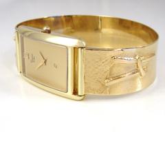 sh8830 horloge horloges uurwerk goud quartz edelsmid band handgemaakt www.tonvandenhout.nl roermond goudsmid origineel uniek sieraden armband juwelier dames heren
