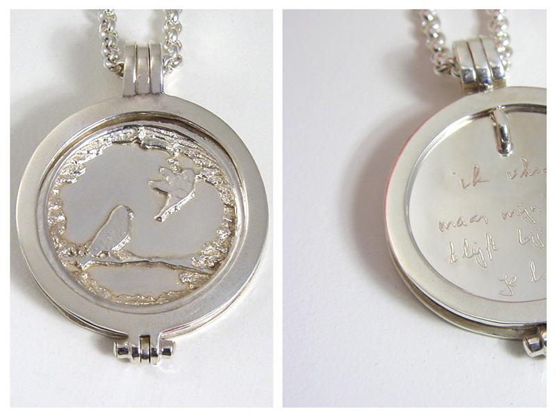 sr699-roermuntje-zilver-hanger-munt-herinnering-gravure-edelsmid-www.tonvandenhout.nl-roermond-vogel-handgemaakt-origineel-uniek-bijzonder-logo's-juwelier-sieraden-ketting