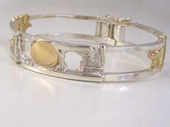 sg512-armband-bicolor-zilver-goud-vingerafdruk-herinnering-sieraden-edelsmid-www.tonvanenhout.nl-handgemaakt-origineel-letters-naam-herinneren-goudsmid