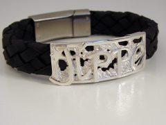 sg9882-armband-leer-naam-gedenken-ster-zilver-naam-letters-edelsmid-www.tonvandenhout.nl-herinnering-geboorte-sieraden-origineel-juwelier-goudsmid-uniek