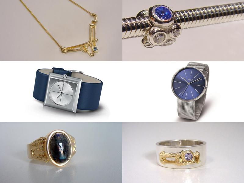 sh8102-bluemonday-blauwemaandag-ring-horloge-abart-goud-blauw-bedels-bicolor-zilver-aquamarijn-steen-labradoriet-tanzaniet-edelsmid-www.tonvandenhout.nl-sieraden-beads