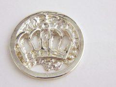 sl21-roermuntje-munthanger-handgemaakt-www.tonvandenhout.nl-edelsmid-munt-zilver-origineel-relatiegeschenk-logo-kroon-geboortecadeau-kroonjaar-jubileum-goudsmid-juwelier
