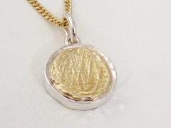 sg521-hanger-bicolor-vingerafdruk-was-zilver-goud-gedenken-herinnering-sieraad-edelsmid-www.tonvandenhout.nl-roermond-ketting-juwelier-aandenken-handgemaakt-uniek-sieraden-bedel