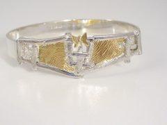 sg9172-armband-bicolor-zilver-goud-vingerafdruk-gedenken-vlinder-spang-edelsmid-slavenband-www.tonvandenhout.nl-goudsmid-uniek-herinneringen-juwelier-sieraden-sieraad-aandenken